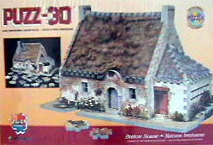 breton house puzz3d wrebbit, a 3d puzzle of an old breton house bretonhouse