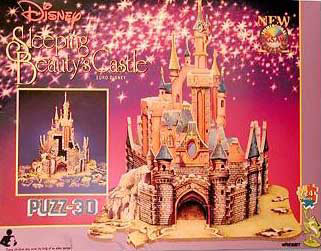 sleeping beauty's castle, puzz3d wrebbit, rare disney puzzle sleepingbeautyscastle