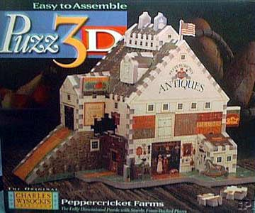 peppercricket farms 3d puzzle, rare puzzle, manufactured by wrebbit, charles wysockis peppercricketfarms