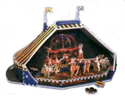 cirque du soleil puzz3d, manufactured by wrebbit, circus 3d jigsaw puzzle cirquedusoleil