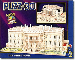 white house puzz3d, wrebbit jigsaw puzzle of the federal building, washington dc whitehouse
