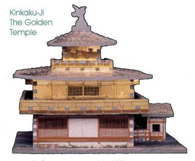 kinkaku-ji zen temple puzz3d, jigsaw puzzle of the famous golden temple, puzz3d by wrebbit kinkakujithegoldentemple