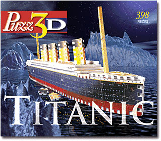 titanic jigsaw puzzle, rare collector's puzzles by wrebbit, discontinued titanic puzz3d titanic