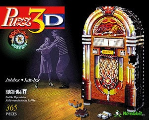 3d puzzle jukebox, rock-ola bubbler puzz3d, wrebbit rare puzzles jukebox3d