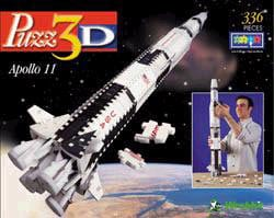 3d puzzle of apollo 11, space shuttle wrebbit puzz3d, 336 pieces apollo11