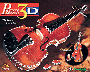 violin 3d jigsaw puzzle, rare jigsaw puzzle by wrebbit violin theviolin