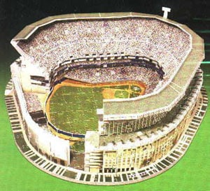 yankee stadium 3d jigsaw puzzle by wrebbit, major league baseball puzz3d yankeestadium