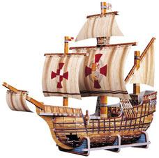santa maria 3d jigsaw puzzle by wrebbit, rare jigsaw puzzle 370 pieces santamaria