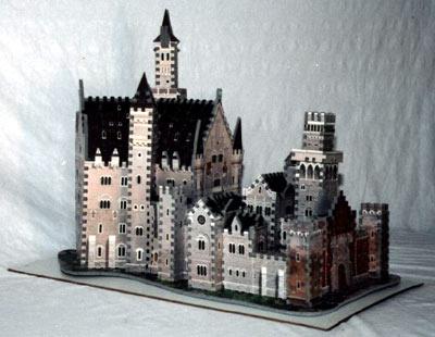bavarian castle 3d puzzle, rare wrebbit jigsaw puzzle, foam puzzle bavariancastle