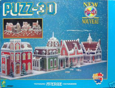 victorian avenue rare 3 dimensional jigsaw puzzel made by wrebbit hasbro puzz-3d foam backed puzzle victorian-avenue