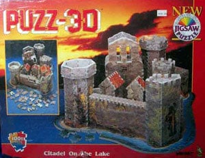 citadel on the lake 3d jigsaw puzzle, vitaliana castle puzz3d by wrebbit citadelonthelake