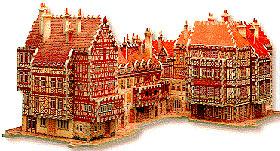 alsace 3d jigsaw puzzle, rare wrebbit puzz3d, alsace france alsace