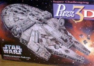 millenium falcon 3d puzzle by wrebbit, rare puzzle star wars milleniumfalcon