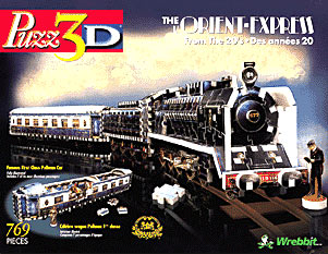orient express three dimensional jigsaw puzzle, rare puzzle by wrebbit orientexpress