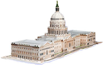 capitol of the united states 3d jigsaw puzzle by wrebbit, rare puzz3d capitoloftheus
