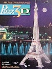 eiffel tower 3d jigsaw puzzle by wrebbit, rare foam puzzle, 700 pieces eiffeltower3d
