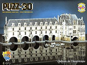 chenonceau castle puzz3d, rare wrebbit puzzle of chenonceau castle, chenonceaucastle