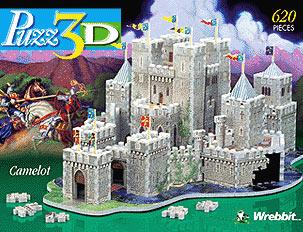 camelot 3d jigsaw puzzle, rare jigsaw puzzle, king arthur's castle camelot