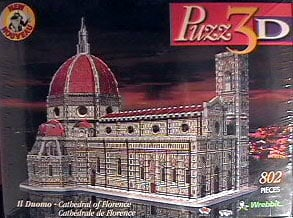 cathedral of florence 3d jigsaw puzzle, rare puzzle by wrebbit duomo of florence cathedralofflorence