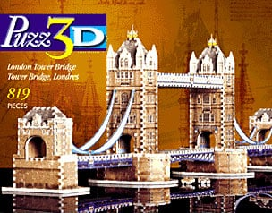 london tower bridge 3d jigsaw puzzle by wrebbit, rare puzzle of bridge londontowerbridgewrebbitpuzz3d