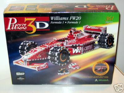 williams fw20 3d jigsaw puzzle by wrebbit, rare formula 1 jigsaw puzz3d williamsfw20
