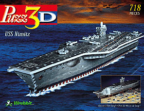 uss nimitz aircraft carrier 3d puzzle by wrebbit, rare us ship puzz3d ussnimitzaircraftcarrier
