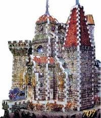 dracula's castle 3d puzzle by wrebbit, puzz3d rare jigsaw puzzle draculascastle