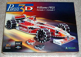 williams fw21 3d jigsaw puzzle, formula 1 rare foam puzzle model williamsfw21