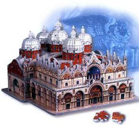 st. marks basilica 731 pieces, jigsaw 3d puzzle by wrebbit stmarksbasilica