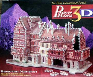 bavarian mansion 3d jigsaw puzzle by wrebbit, rare puzz3d bavarianmansion