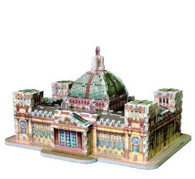 reichstag berlin building 3d puzzle by wrebbit puzz3d jigsaw puzzle rare reichstagberlin