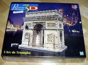 arc de triomphe 3d jigsaw puzzle by wrebbit, rare jigsaw puzzle arcdetriomphepizzmb