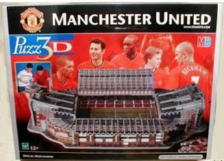manchester united stadium 3d jigsaw puzzle by wrebbit, puzz3d rare puzzle manchesterunitedstadium