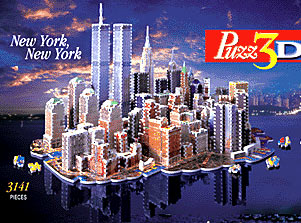 new york city 3d jigsaw puzzle by wrebbit, rare puzz3d of new york newyorknewyork