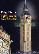 big ben 3d jigsaw puzzle by wrebbit, rare puzz3d of england's big ben clock bigben3dpuzzle