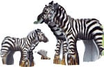 puzz-3d zebra and baby, 31 jumbo foam pieces, la ferme wrebbit puzzed, jigsaw puzzle of a zebra and zebra-baby-kids-3dpuzzle