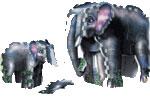 puzz-3d elephant and baby, 31 jumbo foam pieces, la ferme wrebbit puzzed, jigsaw puzzle of an elepha elephant-baby-kids-3dpuzzle