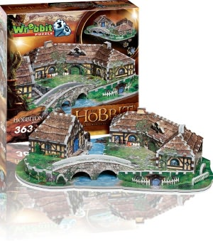 hobbiton from lord of the rings jigsaw puzzles, shire of the hobbits puzzle hobbiton-3d