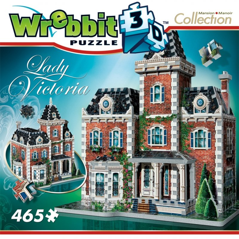 3d jigsaw puzzle of lady victoria from the mansion collection, wrebbit jigsaw puzzle 3d lady-victoria-3d