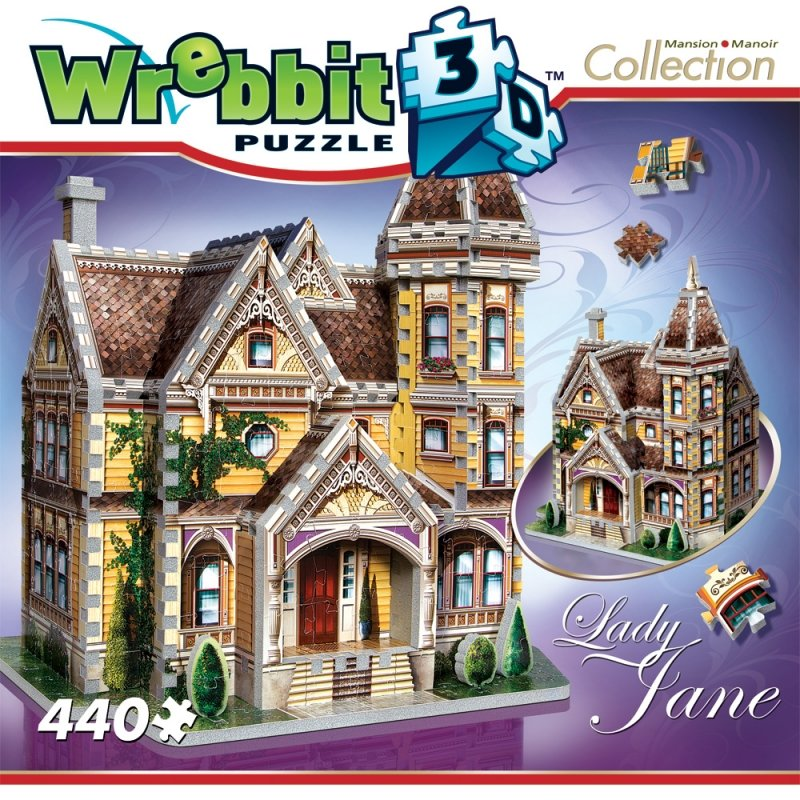 3d jigsaw puzzle of lady jane from the mansion collection, wrebbit jigsaw puzzle 3d lady-jane-3d