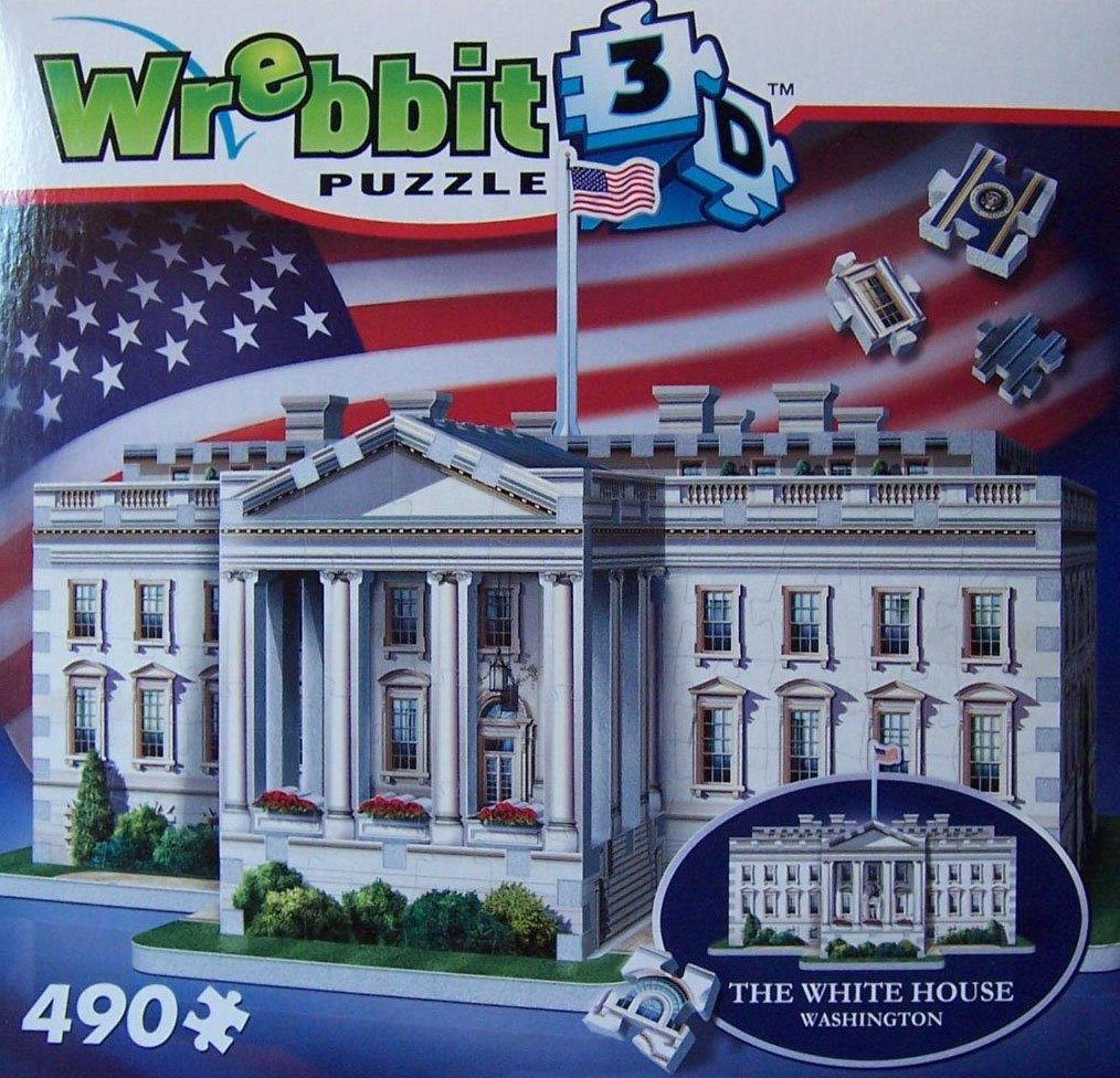 white house puzz3d, wrebbit jigsaw puzzle of the federal building, washington dc white-house-3d