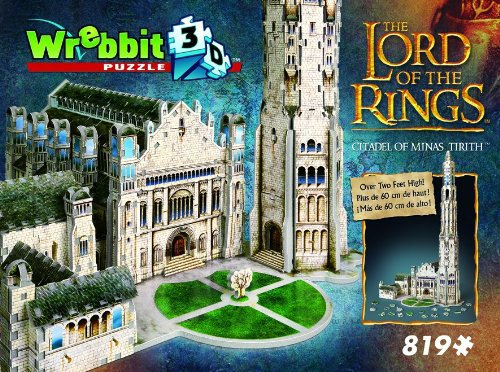 minas tirith 3d jigsaw puzzle, lord of the rings collection by wrebbitt, 707 pieces difficult puzzle minastirith-puzz3d