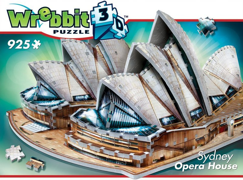 sydney opera house 3d jigsaw puzzle by wrebbit, sydney opra house puzle, 925 pieces, very difficult sydney-opera-house-puzz-3d