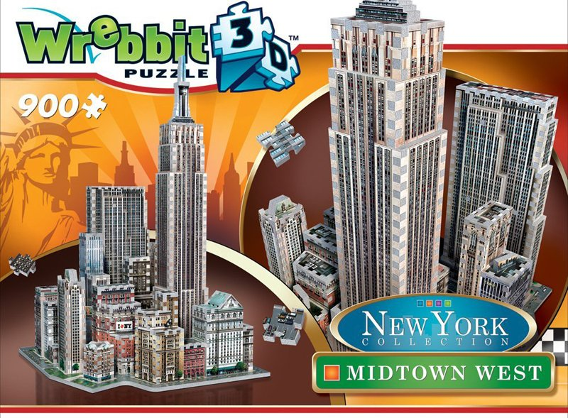new york city midtown west 3d puzzle, empirestatebuilding puzz3d skyscraper puzzles, wrebit maker 3d midtown-west-ny-3d