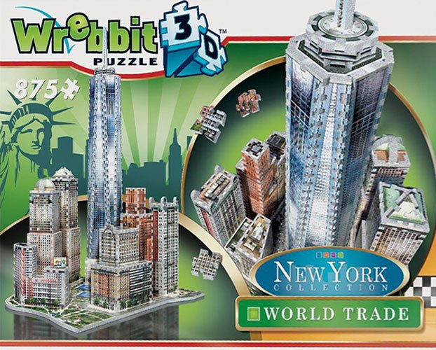 new york city world trade center 3d puzzle, worldtrade puzz3d skyscraper puzzles, wrebit maker 3d world-trade-3d