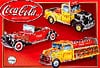 3d-puzzle-coca-cola-vintage-vehicles,coca cola vintage vehicles, 3 cars in 1 from coca cola, vintage vehicles,