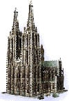 colognecathedral,wrebbit three dimensional puzzles, cologne cathedral jigsaw puzzle, 704 pieces, puzz3d of cathedral,