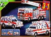 rescuevehiclestripack,ambulance police jeep fire truck jigsaw puzzle, all in one rescue vehicle 3d puzzles by wrebbit, 226