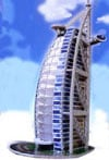 wrebbit 3d jigsaw puzzle burj al arab hotel, dubai puzzle, glow in the dark puzz 3d, 445 pieces, uni Puzzle