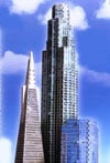 west coast tri 3d puzzles by wrebbit, us bank tower, sunamerica center, transamerica pyramid, jigsaw